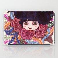 sandra dieckmann iPad Cases featuring Sandra by Magali Almada