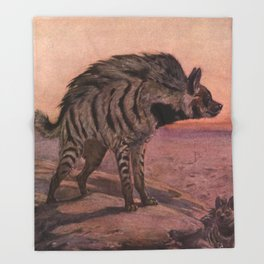 Vintage Hyena Painting (1909) Throw Blanket