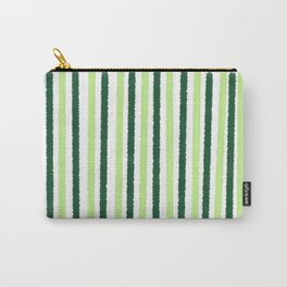 Green Color Stripes Carry-All Pouch