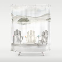 Molasses Pond ● The way the Sweet Life should be Shower Curtain