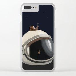 Astronauts Helmet Clear iPhone Case