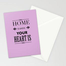 Home is where - pink Stationery Cards