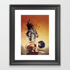 Fallen angel Framed Art Print