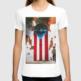 PUERTO RICO FLAG DOOR T-shirt