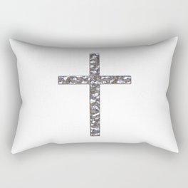 Chrome Crucifix Solid Rectangular Pillow