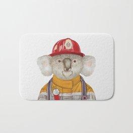 Koala Firefighter Bath Mat