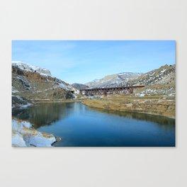Wind River Canyon Train Trestle Canvas Print