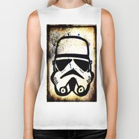 trooper Biker Tanks featuring Trooper by Cyndi Sabido