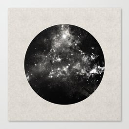 God's Window - Black And White Space Painting Canvas Print