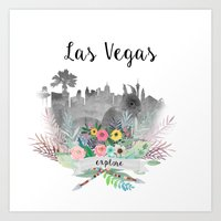 las vegas Art Prints featuring Las Vegas by Claudia Schoen