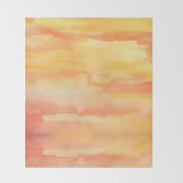 Apricot Sunset Throw Blanket