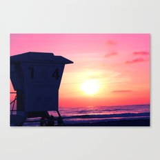 Mission Beach Sunset Canvas Print