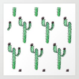 Cactus Flower II Pattern Art Print