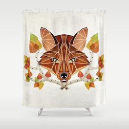 fox autumn Shower Curtain
