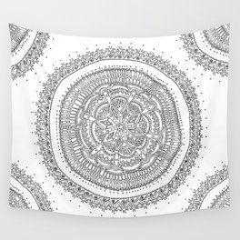 Realizing on White Background Wall Tapestry