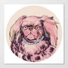 Pink Dog Canvas Print