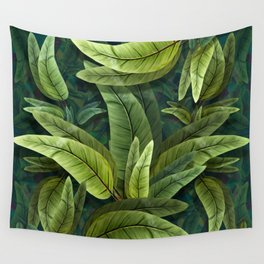 """Retro Tropical Tiki Fantasy 02"" Wall Tapestry"