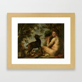 "Jacob Jordaens ""A satyr"" Framed Art Print"