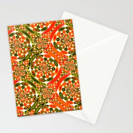 Colorful geometric abstract Stationery Cards