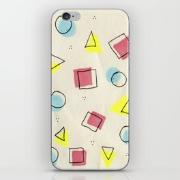 pastel shapes iPhone Skin