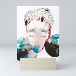 Abstract Cone-Head Portrait Mini Art Print