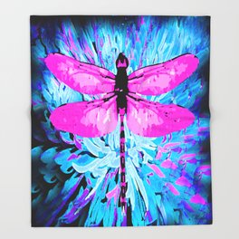 DRAGONFLY Throw Blanket