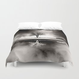 SOLITARY REFLECTION Duvet Cover