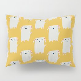 Cute sweet Dog Yellow Pillow Sham