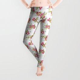 Watercolor Garden Clippings Leggings