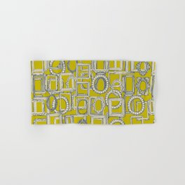picture frames aplenty indigo chartreuse Hand & Bath Towel