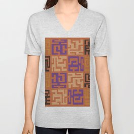 African Tribal Pattern No. 45 Unisex V-Neck