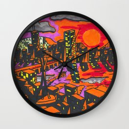 Space Needle Seattle Wall Clock