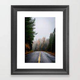 Fog and Fall Colour Framed Art Print