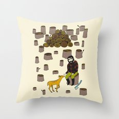 i'm sorry Throw Pillow