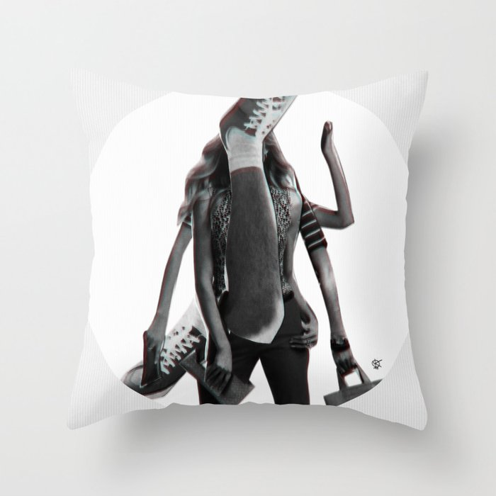 Build a Woman - Cut and Glue · Dizzy Miss Lizzy · Day · Crop Circle Throw Pillow