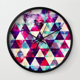 "Retro Geometrical Abstract Design ""Josephine"" inspired Wall Clock"