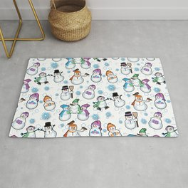 Let it snow! Snow people, snowman by  Beebus Marble Rug