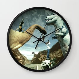 Dinosaur Road Trip Wall Clock