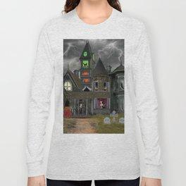 Halloween Haunted Mansion Long Sleeve T-shirt