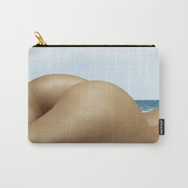 Nude Sunbathing on the Beach Carry-All Pouch