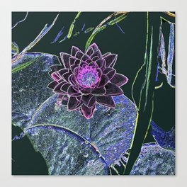 Digital Lotus Canvas Print