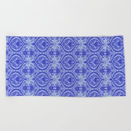 Simple Ogee Blue Beach Towel