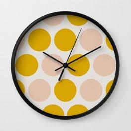 Ms Mustard Polka Dots Wall Clock