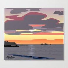 CA coast sunset Canvas Print
