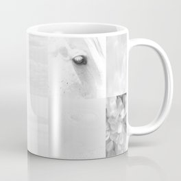 Wyoming White On White Coffee Mug