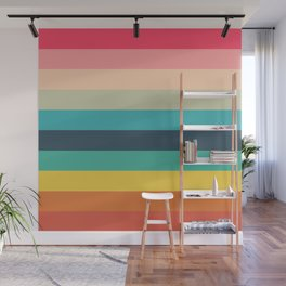 Colorful Timeless Stripes Totetsu Wall Mural