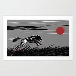 Mecha Wolf Art Print