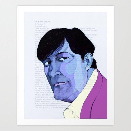 Stephen Fry Art Print