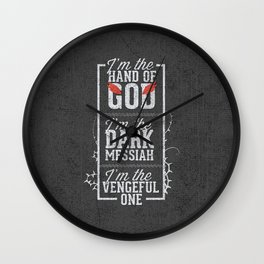 Iam the hand of God - Typography Wall Clock