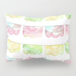 Pastel Watercolor Papel Picado Pillow Sham